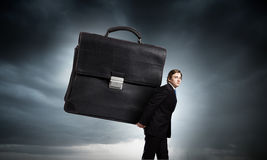 Hardworking businessman Stock Photos