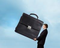 Hardworking businessman Stock Images