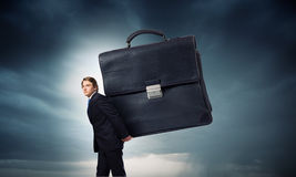 Hardworking businessman Royalty Free Stock Images