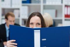 Hardworking businesswoman Stock Image