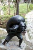 Hardworking farmer statue Stock Photos