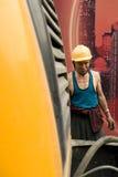 Hardworking laborer Royalty Free Stock Image