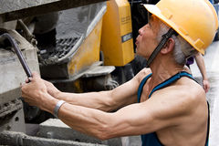 Hardworking laborer Royalty Free Stock Photo