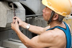 Hardworking laborer Stock Photo