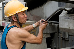 Hardworking laborer Royalty Free Stock Images