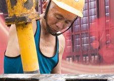 Hardworking laborer Royalty Free Stock Images