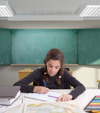 Hardworking pupil Royalty Free Stock Photo