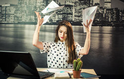 The Hardworking Stress royalty free stock photography