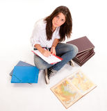 Hardworking teenager Royalty Free Stock Photo