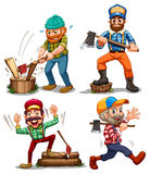 Hardworking woodmen Royalty Free Stock Image