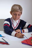 Hardworking young student Royalty Free Stock Photos