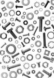 Hardwre - bolts nuts and washers Royalty Free Stock Images