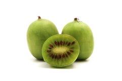 Hardy Kiwifruit. On a white background Stock Photos