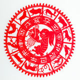 Hare. The paper cutting. The Chinese Zodiac Royalty Free Stock Photos