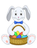 Hare with a basket of eggs Stock Image