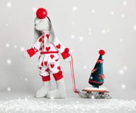 Hare dress up the tree Stock Photos