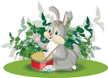Hare drummer Stock Image