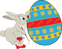 Hare and an Easter egg.Cartoon Stock Photography