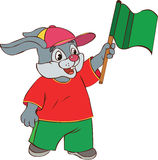 Hare with a flag Royalty Free Stock Image