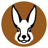 Hare head face  vector illustration style Flat Stock Image
