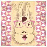Hare hipster Stock Image