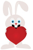 The hare holds heart Royalty Free Stock Images