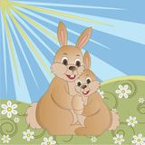 Hare hug Stock Images