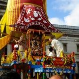 Hare Krishna Festival - Meeting of friends Royalty Free Stock Photo