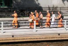 Hare Krishna Walking Stock Photography