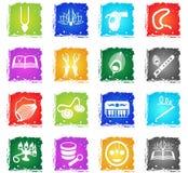 Hare krishna web icons Stock Images