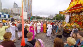 Hare Krishnas celebrate stock video