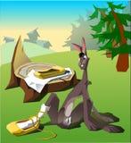 Hare med ryssbastskor royaltyfri illustrationer