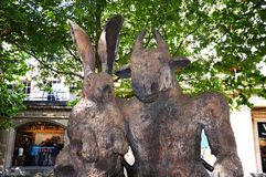 Hare and Minotaur, Cheltenham. Royalty Free Stock Photos