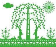 Hare på gräs Royaltyfri Illustrationer