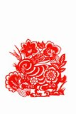 Hare, paper cutting Chinese Zodiac. Stock Images