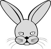 Hare or rabbit. Vector image of  hare or rabbit on white background Royalty Free Stock Photo