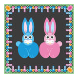Hare rabbit easter Stock Images