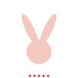Hare or rabbit head it is icon . stock illustration