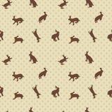 Hare rabbit seamless texture Stock Photo