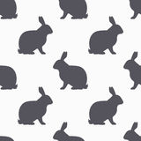 Hare silhouette seamless pattern. Rabbit meat background Stock Photography