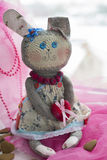 Hare toy with heart Stock Image