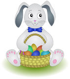 Hare With A Basket Of Eggs Stock Images