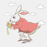 Hare from wonderland vector illustration