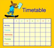 Hare and the workbook Royalty Free Stock Photo