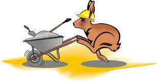 Hare worker. Illustration of a fast hare worker vector illustration
