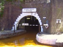 Harecastle Tunnel North Portal. The north portal of the Harecastle Tunnel on the Trent and Mersey Canal Stock Photo