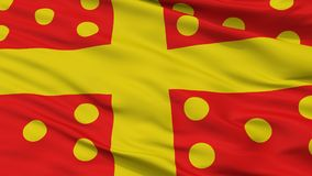 Harelbeke City Flag, Belgium, Closeup View. Harelbeke City Flag, Country Belgium, Closeup View Royalty Free Illustration