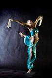 Harem girl. Dancing girl in Arabian costume stock photography