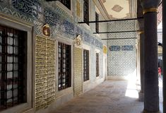 Harem nel palazzo di Topkapi a Costantinopoli fotografie stock libere da diritti