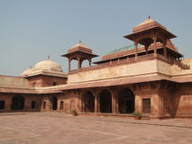 Harem palace of red sandstone Stock Images
